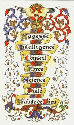 TABLEAU POÉTIQUE DES SACREMENTS EN GÉNÉRAL.  Vicomte Walsh – 1852 7-dons-du-Saint-Esprit